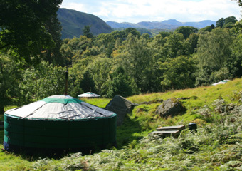Three Yurt View
